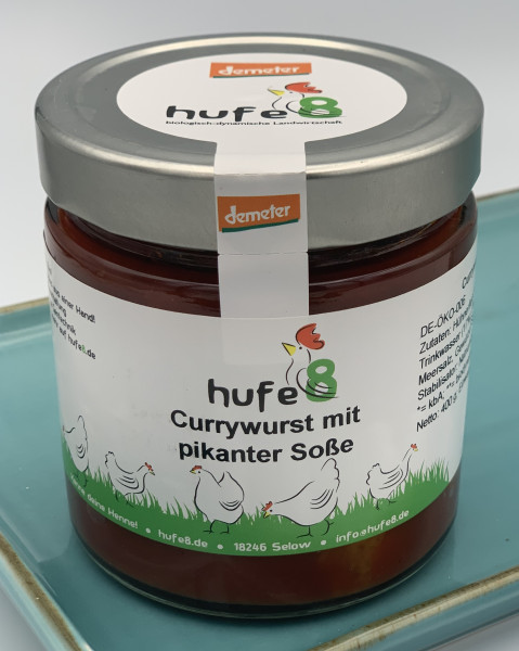 Currywurst in pikanter Soße